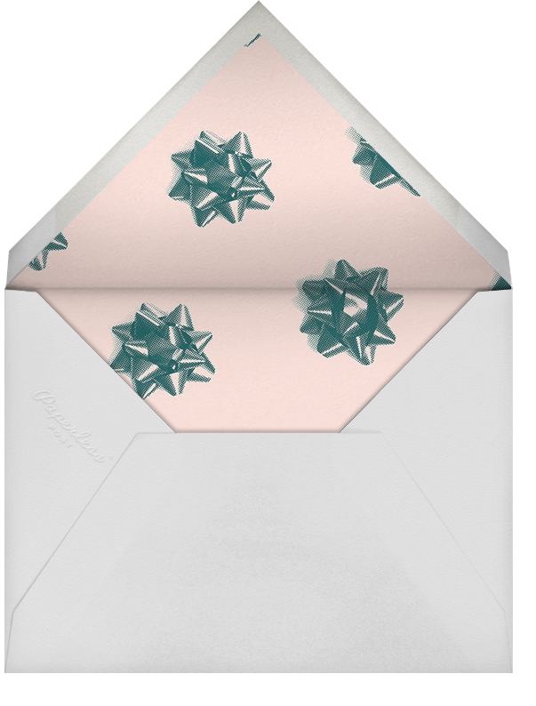 Mylar Stars - Gold - Paperless Post - Christmas party - envelope back