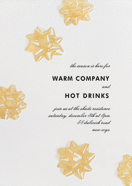 Mylar Stars - Gold - Paperless Post - Company holiday party
