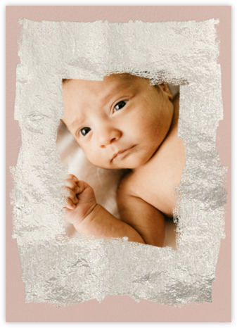 Framework (Photo) - Pink/Silver - Kelly Wearstler - Birth Announcements