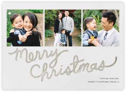 Longhand Christmas - Silver - Paper + Cup -