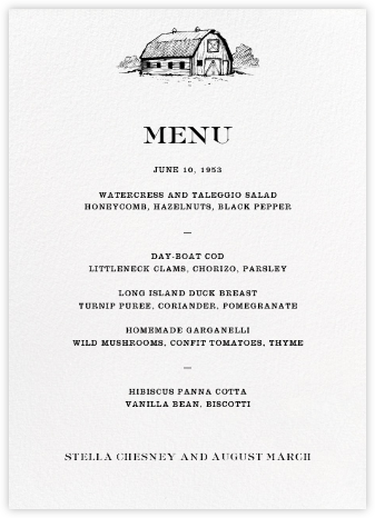 Granary (Menu) - Paperless Post - Wedding menus and programs - available in paper