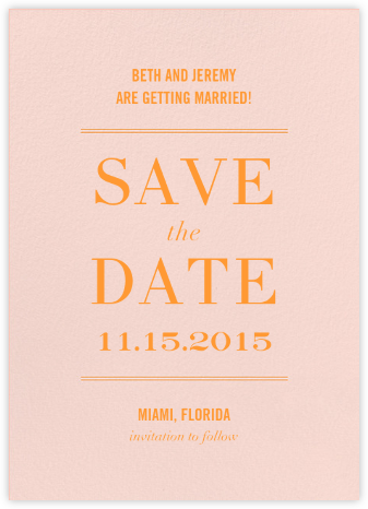 Typographic II (Save the Date) - Meringue - kate spade new york - Save the dates