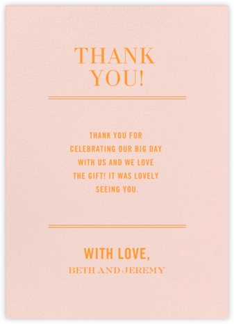 Typographic II (Stationery) - Meringue - kate spade new york - Wedding thank you notes