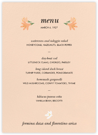 Des Tropiques (Menu) - Paperless Post - Wedding menus and programs - available in paper