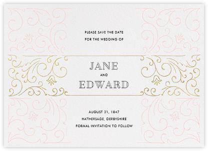 La Belle Époque (Save the Date) - Gold/Pavlova - Paperless Post -