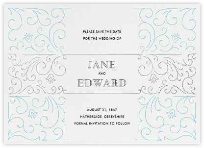 La Belle Époque (Save the Date) - Silver/Bondi - Paperless Post -