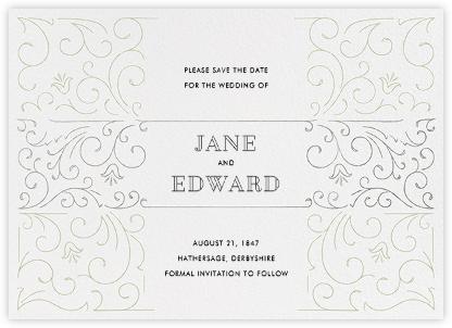 La Belle Époque (Save the Date) - Silver/Sage - Paperless Post -