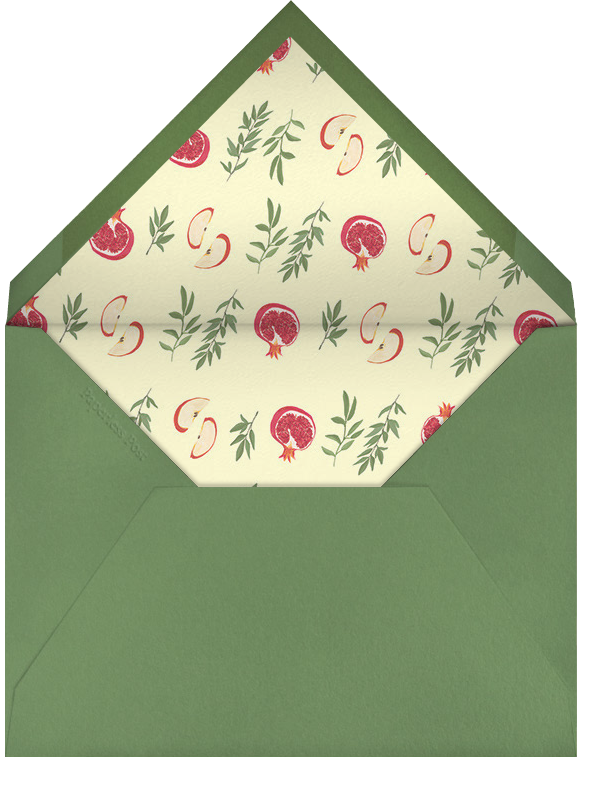Slice of Life (Greeting) - Paperless Post - Rosh Hashanah - envelope back