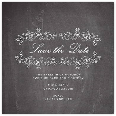 Chalkboard Garland (Save the Date) - Paper + Cup - Paper + Cup