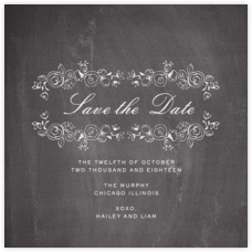 Chalkboard Garland (Save the Date)