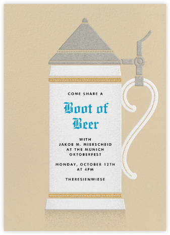 Stein of the Times - Paperless Post - Oktoberfest invitations