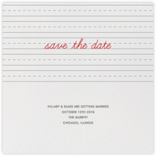 Handwritten Love (Save the Date)