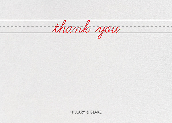 Handwritten Love (Stationery) - Paper + Cup - Wedding thank you notes