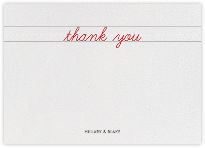 Handwritten Love (Stationery) - Paper + Cup - Kids' thank you notes