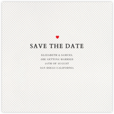 Heart Dot (Save the Date)