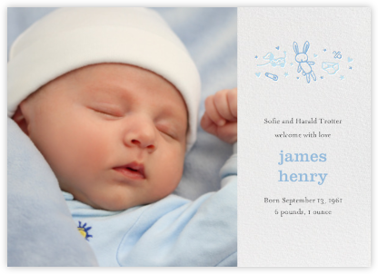 Baby Things (Photo) - Blue - Hello!Lucky - Birth Announcements