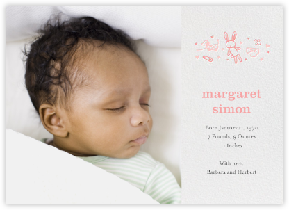Baby Things (Photo) - Pink - Hello!Lucky - Birth Announcements