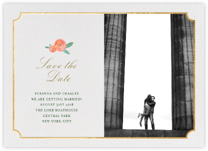 Pocket Full of Breezy Flowers (Photo Save the Date) - Paper + Cup - Paper + Cup