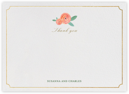 Pocket Full of Breezy Flowers (Stationery) - Paper + Cup - Wedding thank you notes