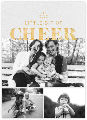 Beacon of Cheer - Gold - Paperless Post - Holiday cards