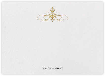 A Regal Wedding (Stationery) - Paper + Cup - Personalized Stationery
