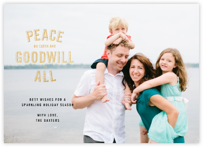 Peace and Goodwill (Photo) - Gold - Paperless Post -