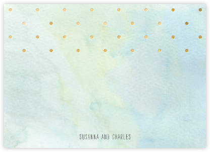 Watercolor (Stationery) - Blue/Gold - Paper + Cup - Personalized Stationery