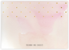 Watercolor (Stationery) - Pink/Gold