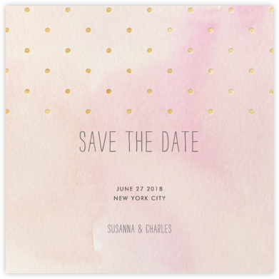 Watercolor (Save the Date) - Pink/Gold - Paper + Cup - Paper + Cup Wedding