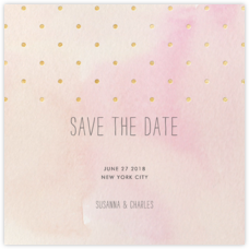 Watercolor (Save the Date) - Pink/Gold