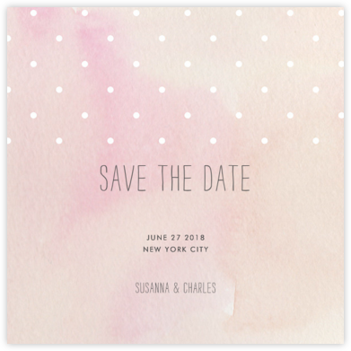 Watercolor (Save the Date) - Pink/White - Paper + Cup - Paper + Cup