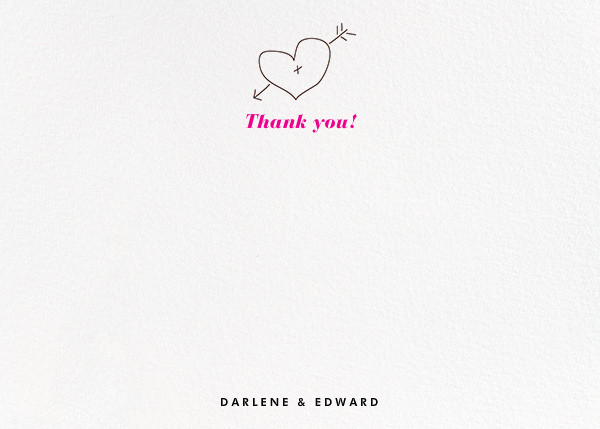Wooden Arrow (Stationery) - Paper + Cup - Wedding thank you notes