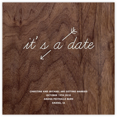 Wooden Love Arrow (Save the Date) - Paper + Cup - Save the date cards and templates