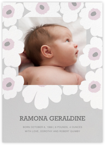 Unikko (Photo) - Gray - Marimekko - Birth Announcements