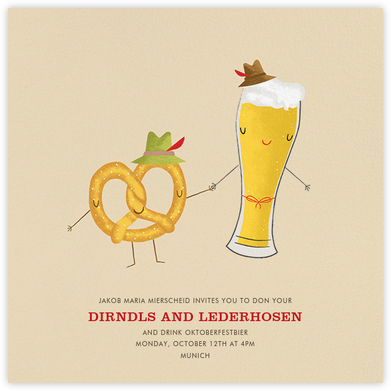 Oktoberfriends - Paperless Post - Oktoberfest invitations
