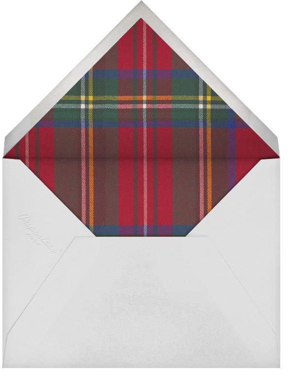 Tartan (Square Photo) - Carnation/Silver - Oscar de la Renta - Envelope