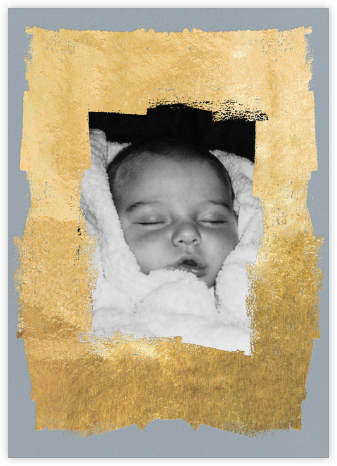 Framework (Photo) - Blue/Gold - Kelly Wearstler - Birth Announcements