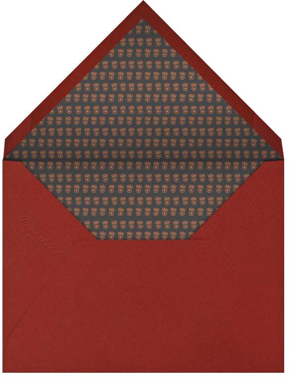 Merry Christmas Script (Photo) - Black - Bernard Maisner - Christmas - envelope back