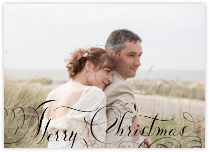 Merry Christmas Script (Photo) - Black - Bernard Maisner -