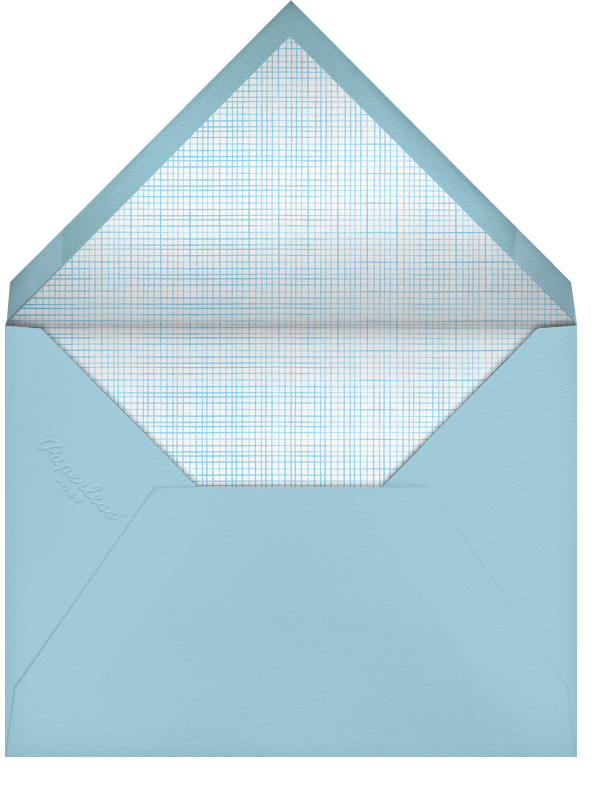 Say Hello to... Baby Gear (Photo) - Blue - Paperless Post - Baby boy announcements - envelope back