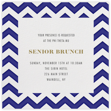 Chevrons (Square) - Blue - Paperless Post - Invitations