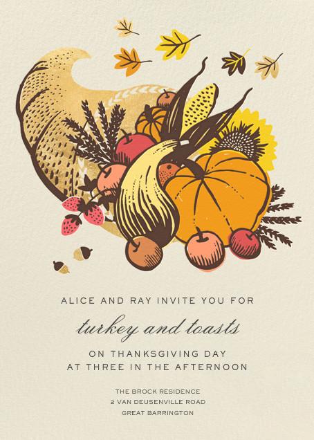Cornucopia - Hello!Lucky - Thanksgiving invitations