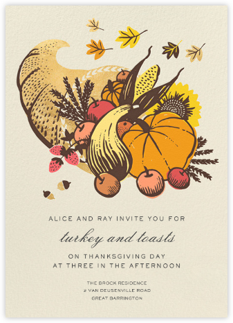 Cornucopia - Hello!Lucky - Thanksgiving invitations