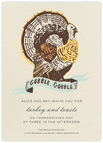 Party Fowl - Hello!Lucky - Thanksgiving invitations