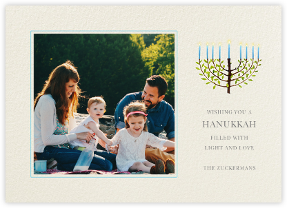 Olive Tree Menorah (Photo) - Felix Doolittle - Hanukkah photo cards