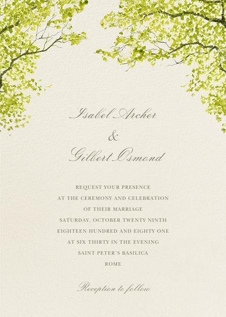 Wedding invitations online at Paperless Post