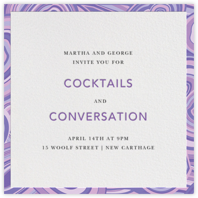 Malachite (Invitation) - Purple - Jonathan Adler -