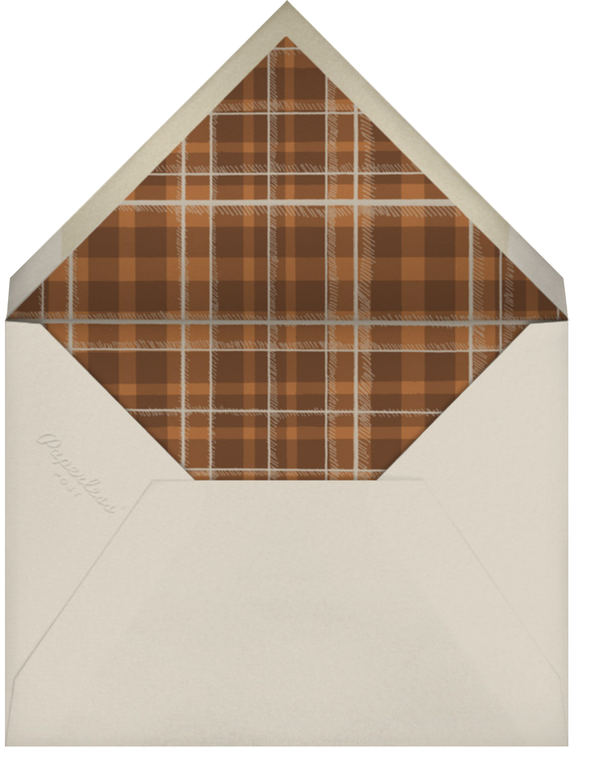 Buck and Wine - Chipboard - Paperless Post - Sports - envelope back