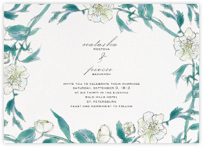 Ikebana - White  - Paperless Post - Wedding Invitations