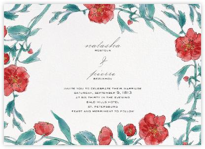 Ikebana - Red - Paperless Post - Wedding Invitations